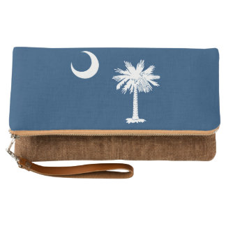 Dynamic South Carolina State Flag Graphic on a Clutch