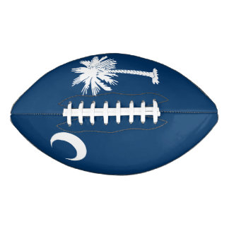Dynamic South Carolina State Flag Graphic on a Football