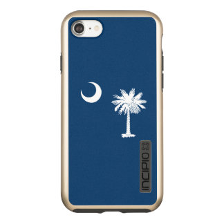 Dynamic South Carolina State Flag Graphic on a Incipio DualPro Shine iPhone 8/7 Case