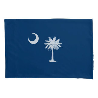 Dynamic South Carolina State Flag Graphic on a Pillowcase