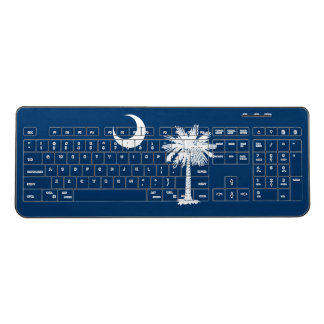 Dynamic South Carolina State Flag Graphic on a Wireless Keyboard