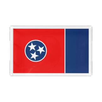 Dynamic Tennessee State Flag Graphic on a Acrylic Tray