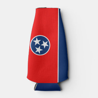 Dynamic Tennessee State Flag Graphic on a Bottle Cooler