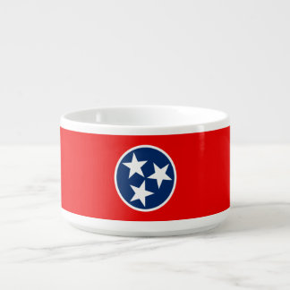 Dynamic Tennessee State Flag Graphic on a Bowl
