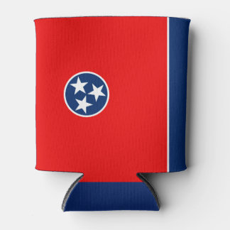 Dynamic Tennessee State Flag Graphic on a Can Cooler