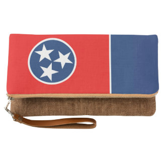 Dynamic Tennessee State Flag Graphic on a Clutch