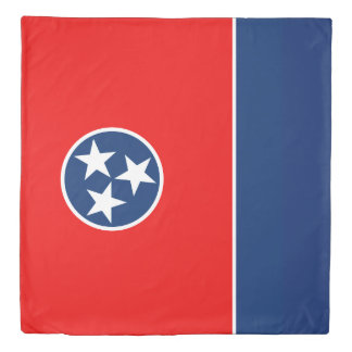 Dynamic Tennessee State Flag Graphic on a Duvet Cover