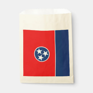 Dynamic Tennessee State Flag Graphic on a Favour Bag