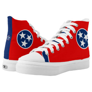 Dynamic Tennessee State Flag Graphic on a High Tops