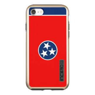 Dynamic Tennessee State Flag Graphic on a Incipio DualPro Shine iPhone 7 Case