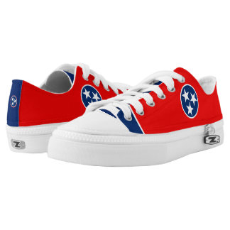 Dynamic Tennessee State Flag Graphic on a Low-Top Sneakers