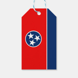 Dynamic Tennessee State Flag Graphic on a Pack Of Gift Tags