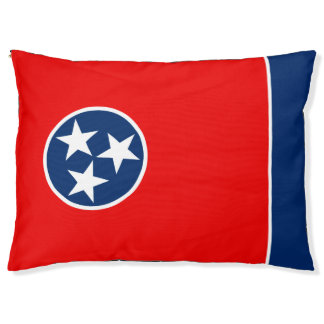 Dynamic Tennessee State Flag Graphic on a Pet Bed
