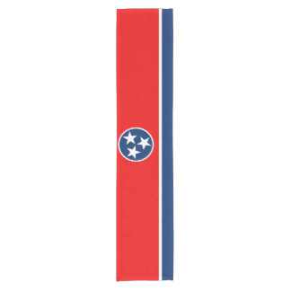 Dynamic Tennessee State Flag Graphic on a Short Table Runner
