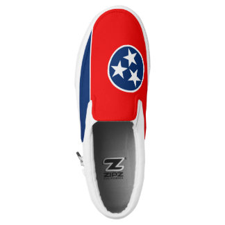 Dynamic Tennessee State Flag Graphic on a Slip-On Sneakers