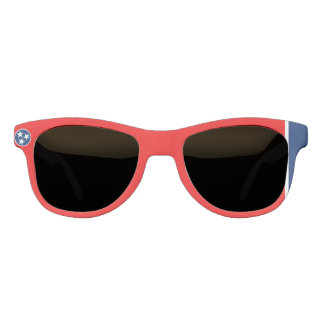Dynamic Tennessee State Flag Graphic on a Sunglasses