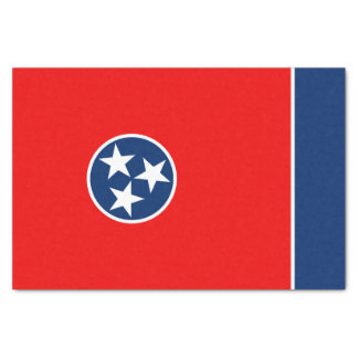 Dynamic Tennessee State Flag Graphic on a Tissue Paper