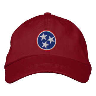 Dynamic Tennessee State Flag Graphic on Baseball Cap