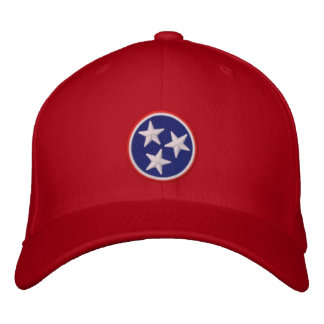 Dynamic Tennessee State Flag Graphic on Embroidered Baseball Cap