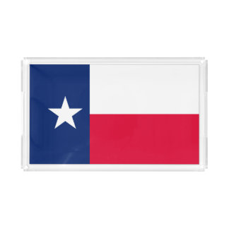 Dynamic Texas State Flag Graphic on a Acrylic Tray