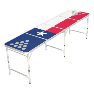 Dynamic Texas State Flag Graphic on a Beer Pong Table