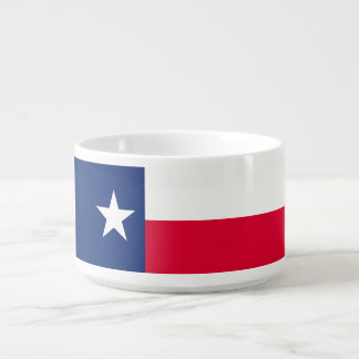 Dynamic Texas State Flag Graphic on a Bowl