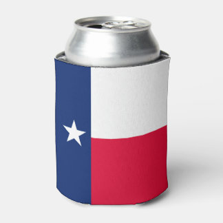 Dynamic Texas State Flag Graphic on a Can Cooler