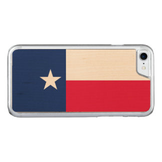 Dynamic Texas State Flag Graphic on a Carved iPhone 8/7 Case