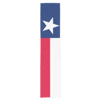 Dynamic Texas State Flag Graphic on a Short Table Runner