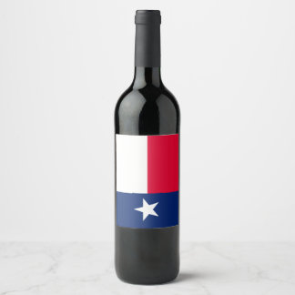 Dynamic Texas State Flag Graphic on a Wine Label