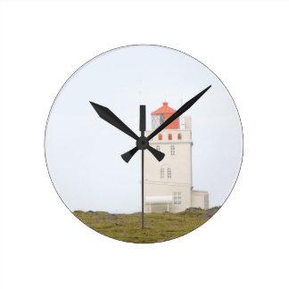 Dyrholaey Lighthouse Iceland Clock