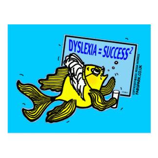 Dyslexia Teacher Fish ~ Dyslexic success Postcard