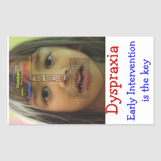 Dyspraxia awareness sticker