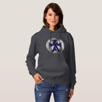 Dystonia Iron Cross Ladies Hoodie