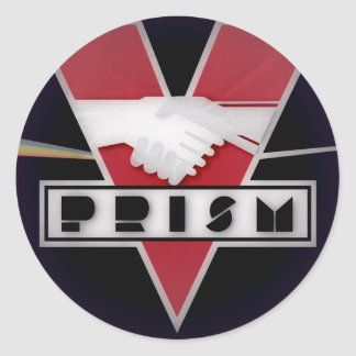 DYSTOPIAN PRISM BUTTON CLASSIC ROUND STICKER