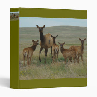 E0044 Cow Elk and Calves Vinyl Binder