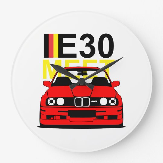 E30 Meet Wall Clock