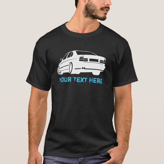 E34 M5 white + your text T-Shirt
