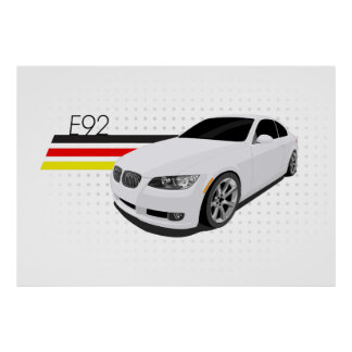 E92 Coupe Poster