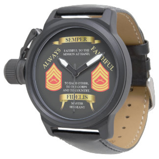 E-8 MSGT SEMPER FIDELIS / ALWAYS FAITHFUL WATCH