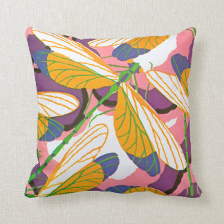 E.A. Séguy Art Deco Art Nouveau Dragonfly Throw Pillow