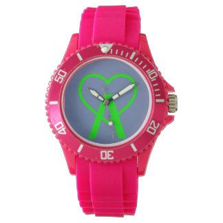 E&B Pink A~Heart Watch
