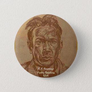 E. E.Cummings 2 Inch Round Button
