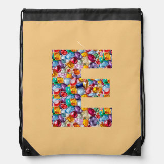 e ee eee alpha initial name Birthday HappyBirthday Backpack