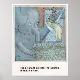 E for Elephant Poster