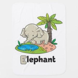 E For Elephant Receiving Blanket