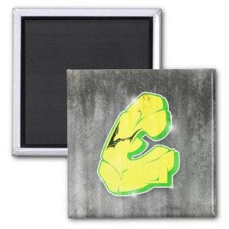 E - Graffiti letter magnet
