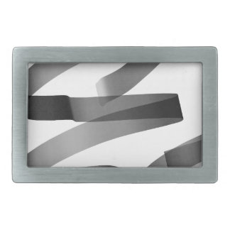 E graffiti rectangular belt buckles