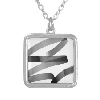 E graffiti silver plated necklace
