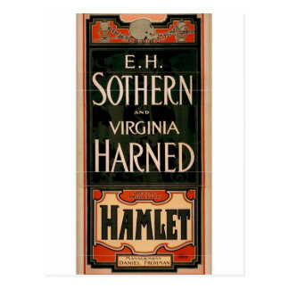 E.H. Sothern and Virginia harned, 'Hamlet' Retro T Postcard
